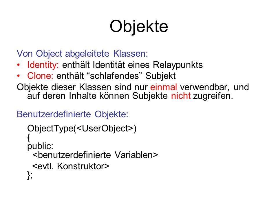 Objekte Von Object abgeleitete Klassen: