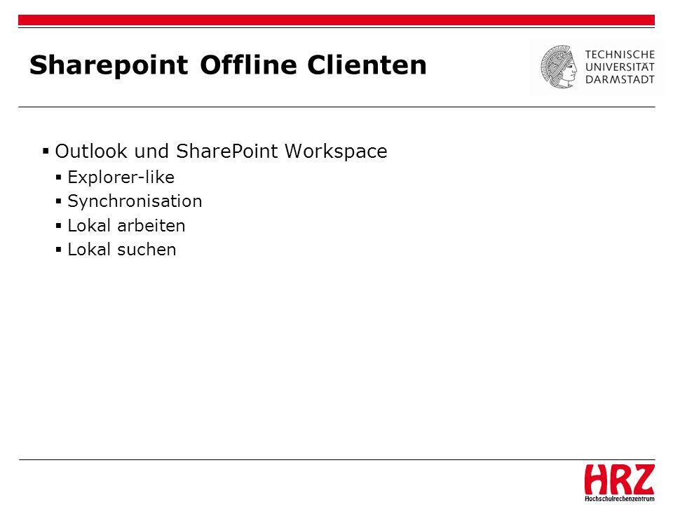 Sharepoint Offline Clienten