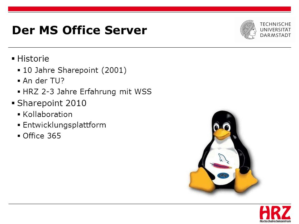 Der MS Office Server Historie Sharepoint 2010