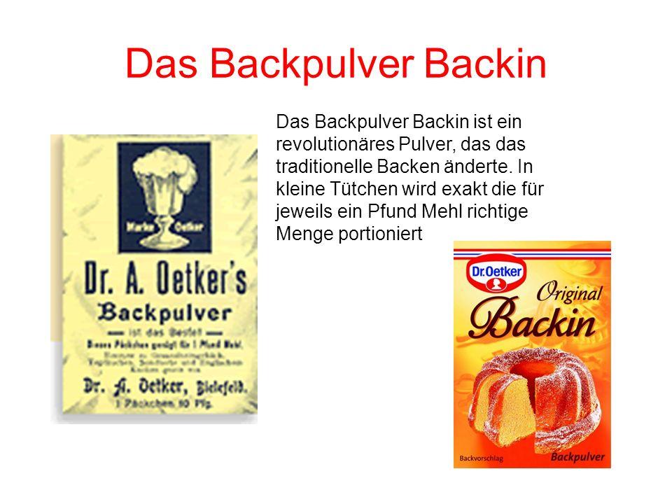 Das Backpulver Backin