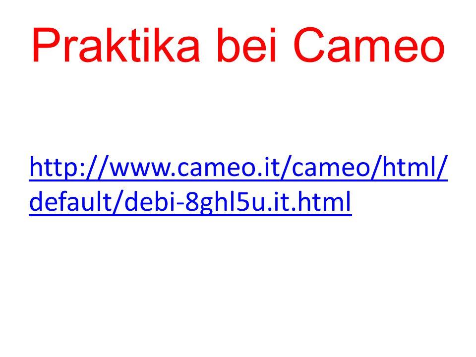 Praktika bei Cameo http://www.cameo.it/cameo/html/default/debi-8ghl5u.it.html