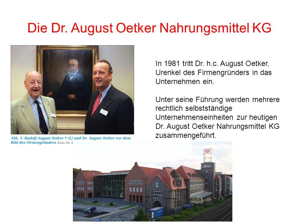 Die Dr. August Oetker Nahrungsmittel KG