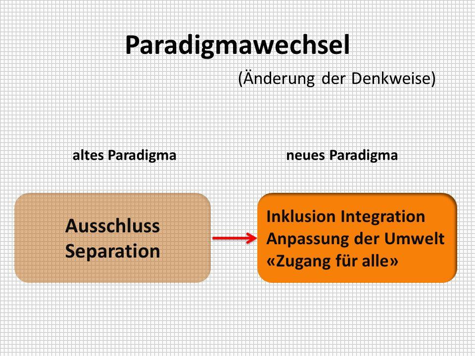 Paradigmawechsel Ausschluss Separation (Änderung der Denkweise)