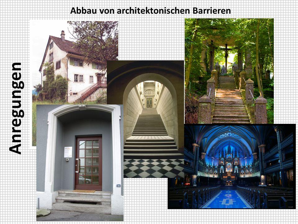 Anregungen Abbau von architektonischen Barrieren