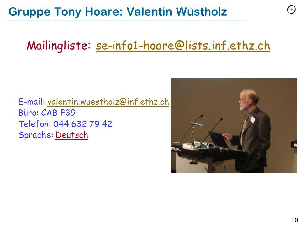 Gruppe Tony Hoare: Valentin Wüstholz