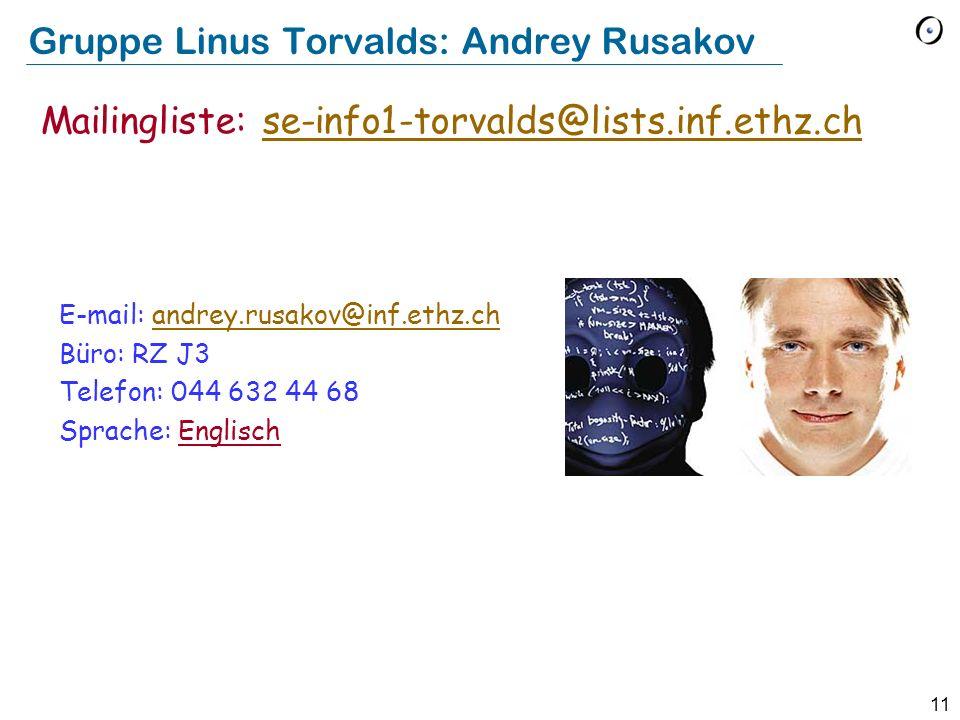 Gruppe Linus Torvalds: Andrey Rusakov