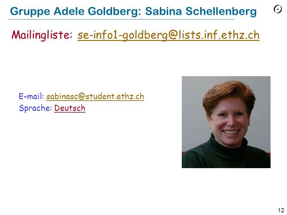 Gruppe Adele Goldberg: Sabina Schellenberg
