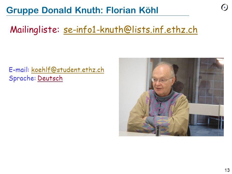 Gruppe Donald Knuth: Florian Köhl