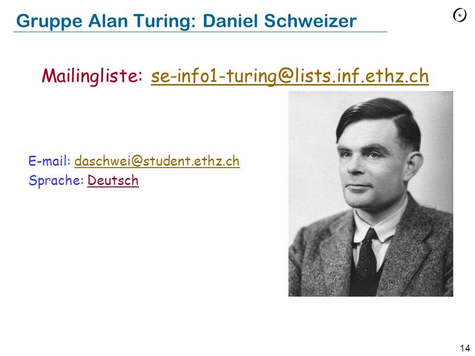 Gruppe Alan Turing: Daniel Schweizer