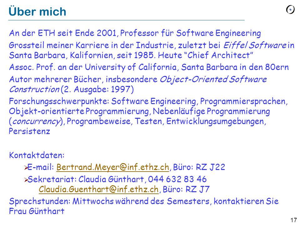 Über michAn der ETH seit Ende 2001, Professor für Software Engineering.