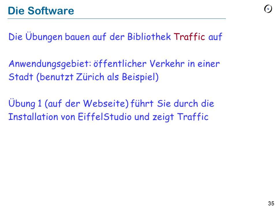 Die Software Die Übungen bauen auf der Bibliothek Traffic auf