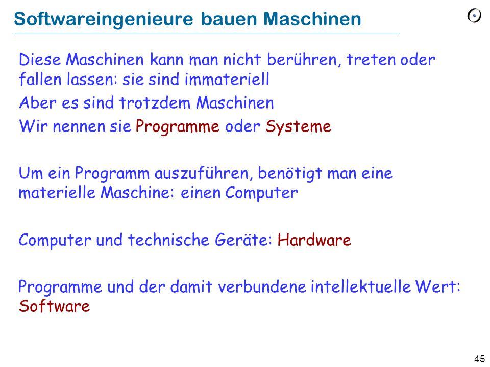 Softwareingenieure bauen Maschinen