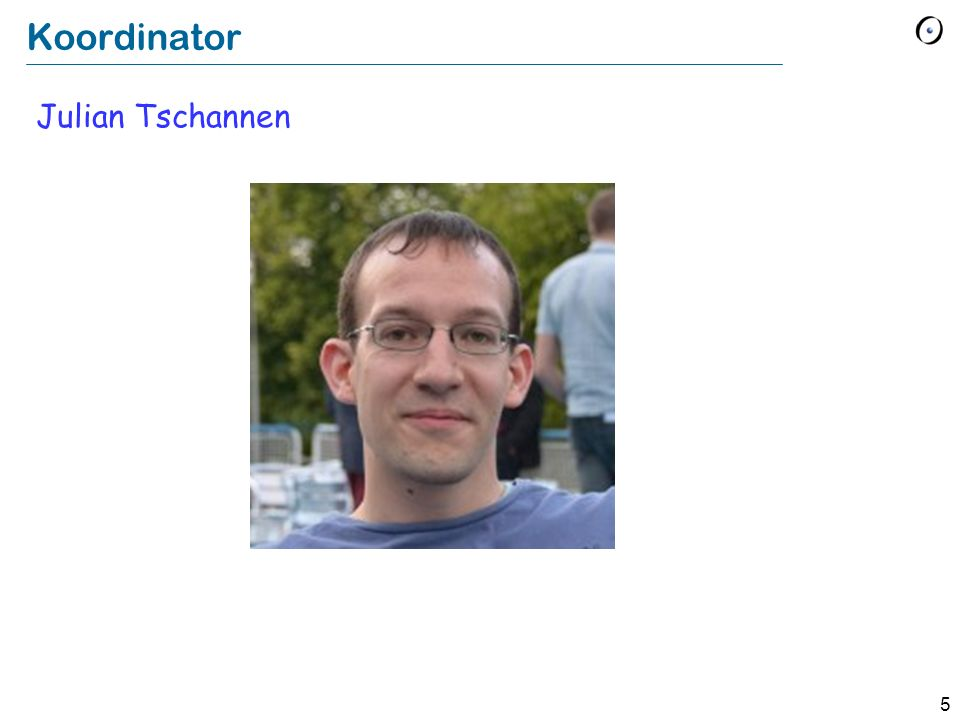 Koordinator Julian Tschannen