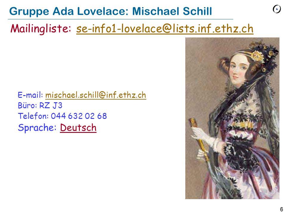 Gruppe Ada Lovelace: Mischael Schill