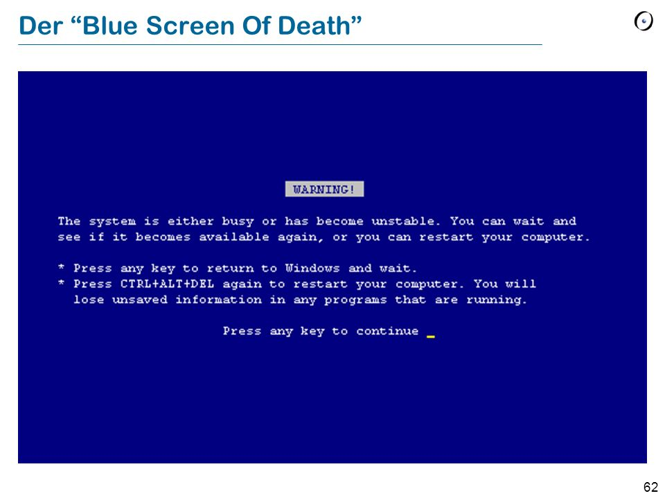 Der Blue Screen Of Death