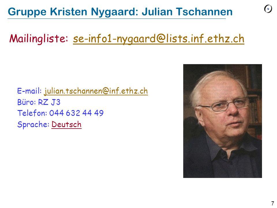 Gruppe Kristen Nygaard: Julian Tschannen