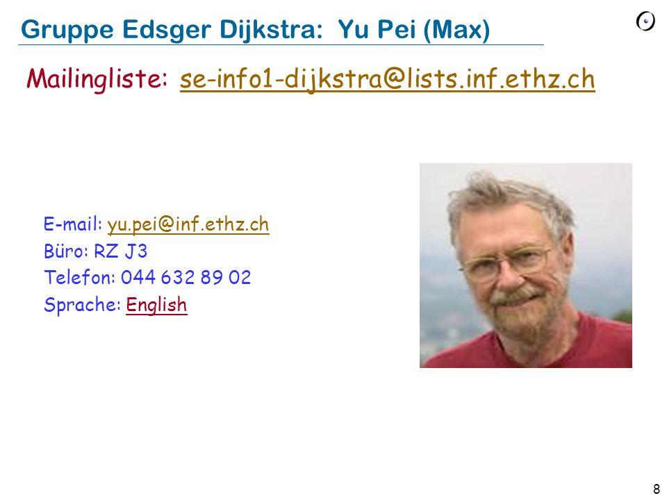 Gruppe Edsger Dijkstra: Yu Pei (Max)