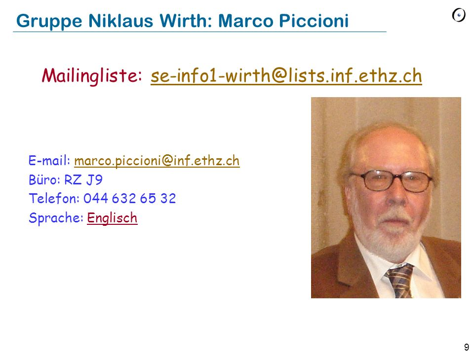 Gruppe Niklaus Wirth: Marco Piccioni