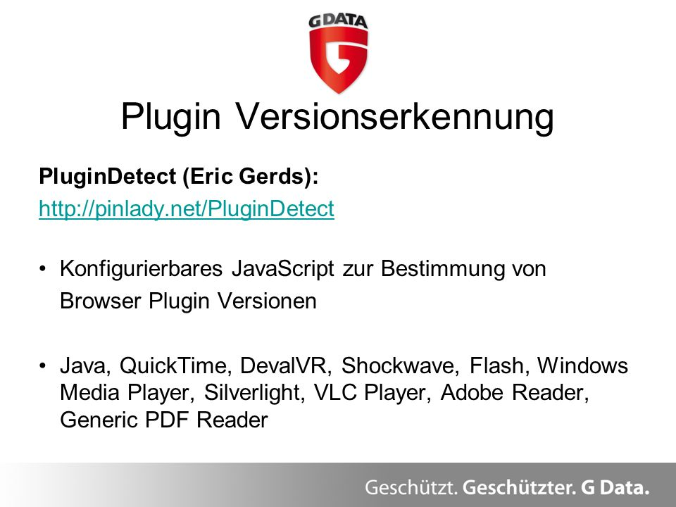 Plugin Versionserkennung