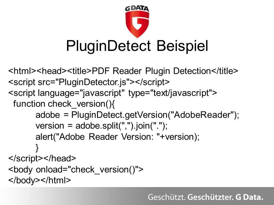 PluginDetect Beispiel