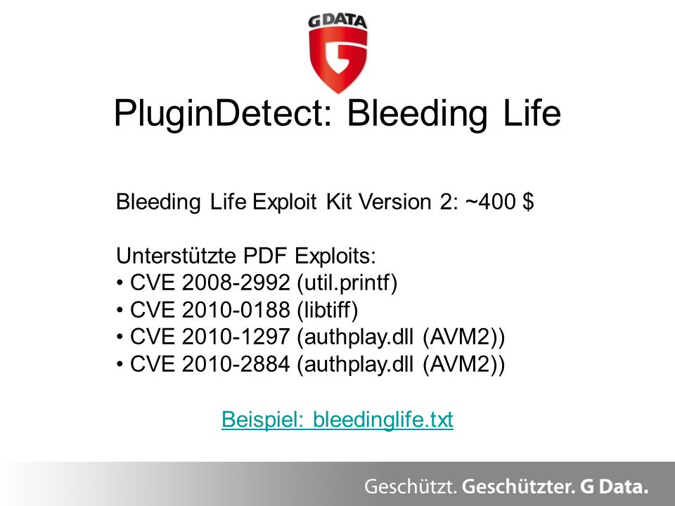 PluginDetect: Bleeding Life