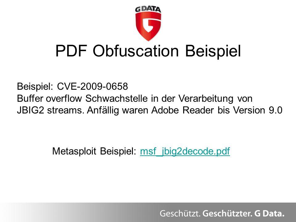 PDF Obfuscation Beispiel