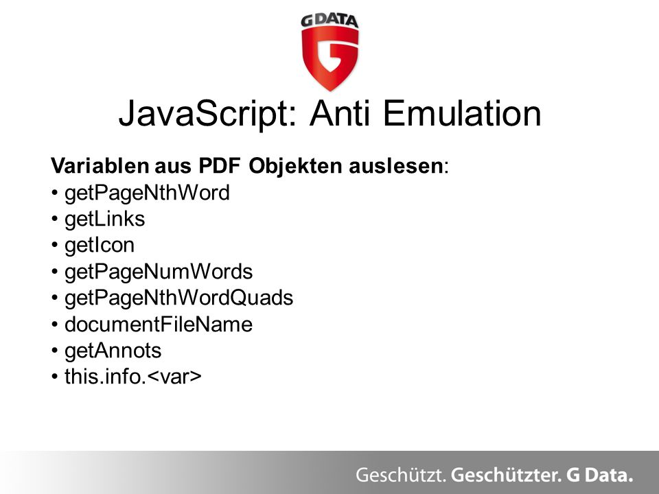 JavaScript: Anti Emulation
