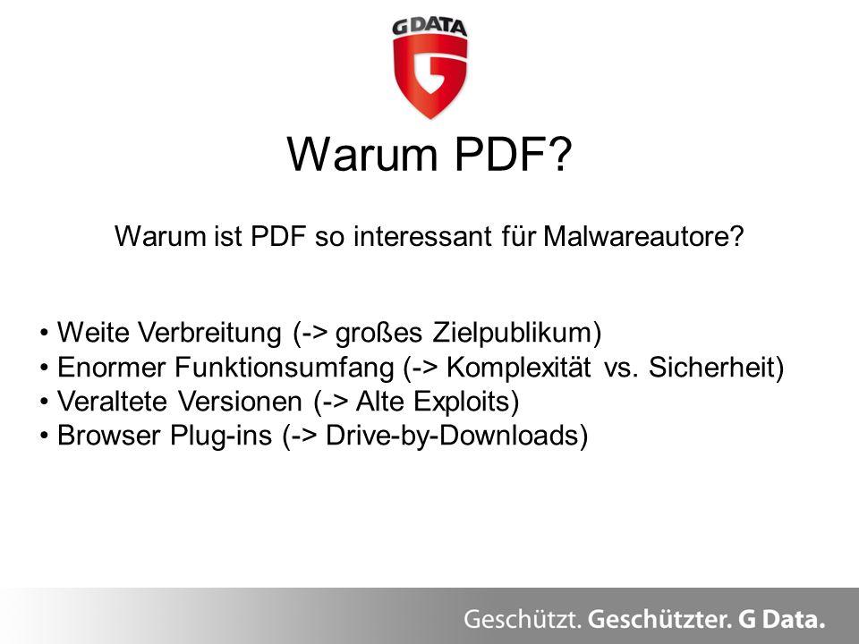 Warum ist PDF so interessant für Malwareautore