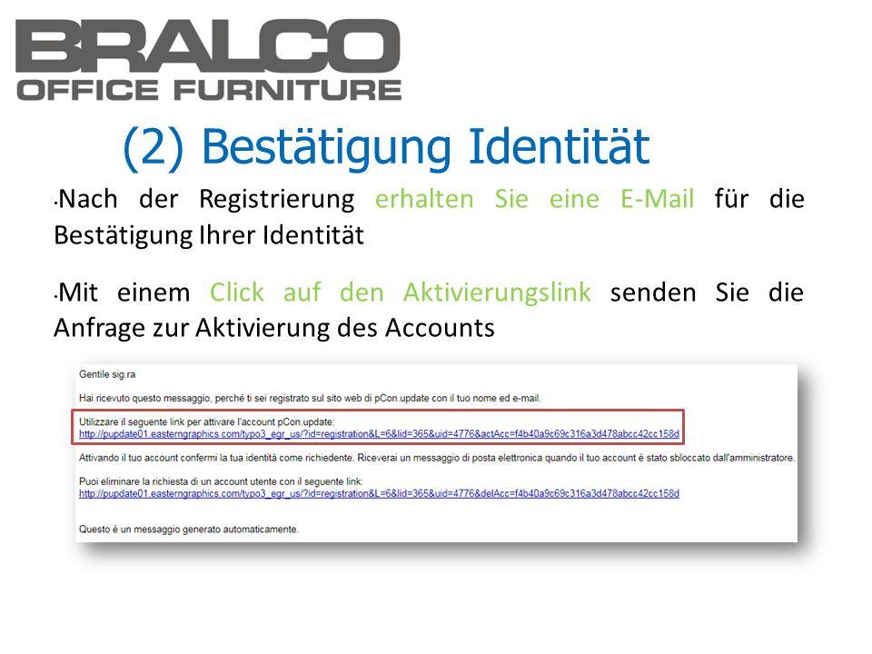 (2) Bestätigung Identität