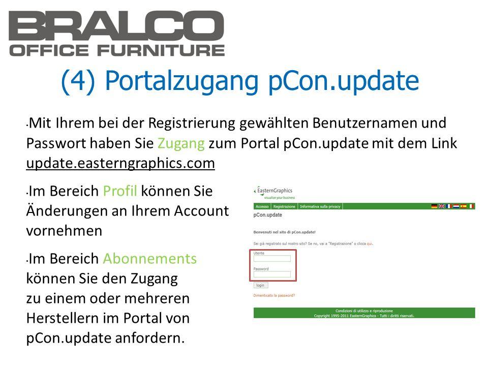 (4) Portalzugang pCon.update