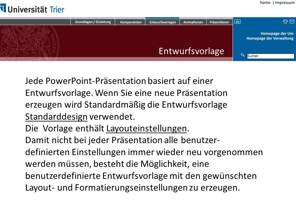 Jede PowerPoint-Präsentation basiert auf einer