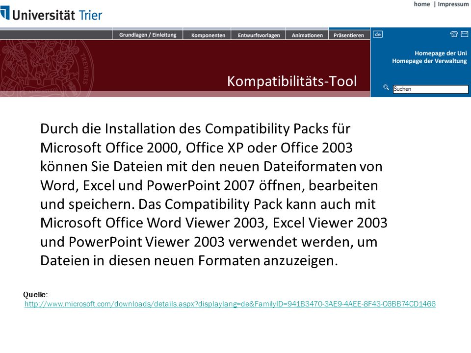 Kompatibilitäts-Tool