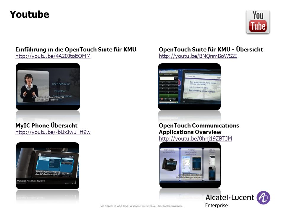 Youtube Einführung in die OpenTouch Suite für KMU