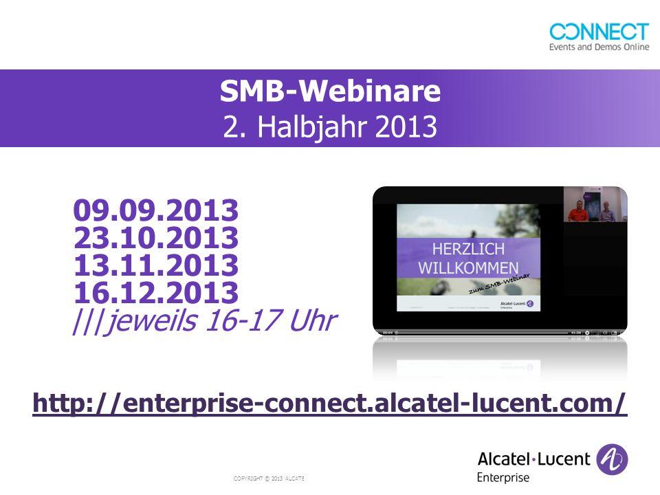 SMB-Webinare 2. Halbjahr 2013
