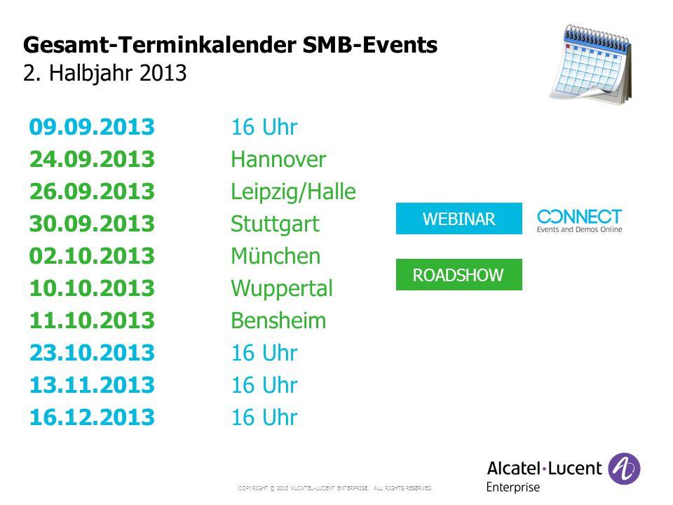 Gesamt-Terminkalender SMB-Events 2. Halbjahr 2013