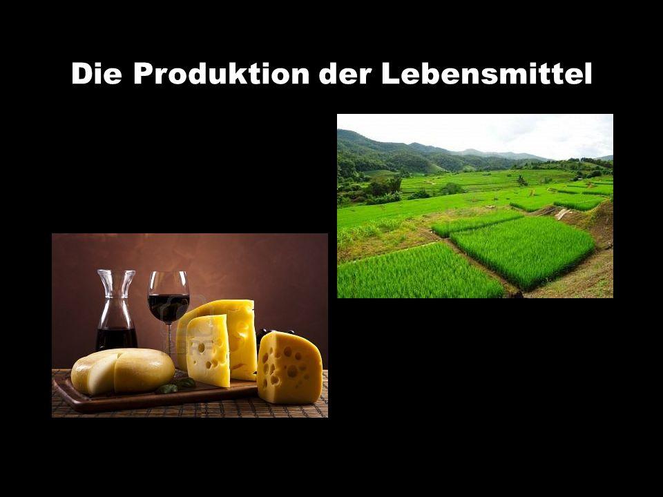 Die Produktion der Lebensmittel