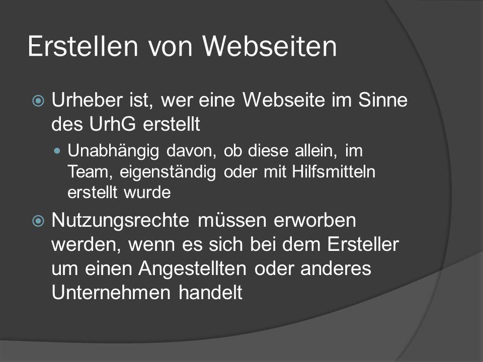 Erstellen von Webseiten