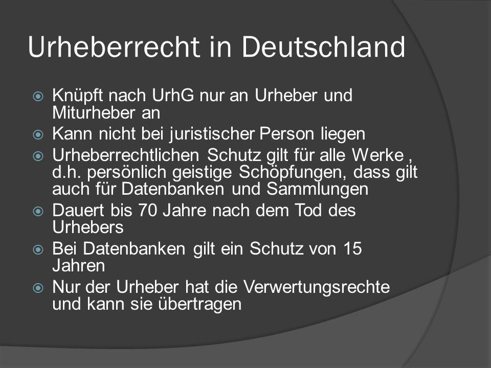 Urheberrecht in Deutschland