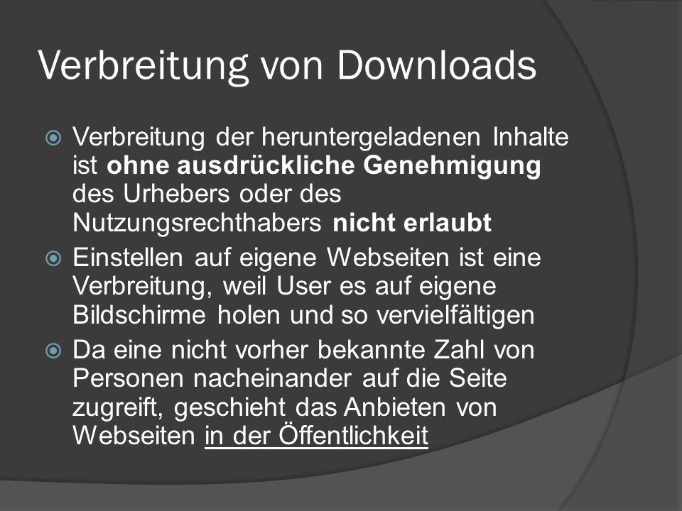 Verbreitung von Downloads