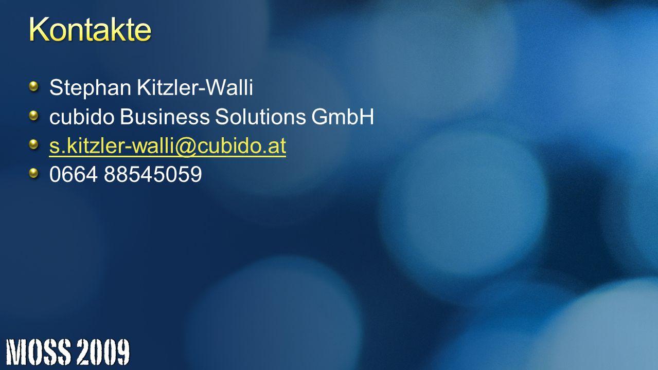 Kontakte Stephan Kitzler-Walli cubido Business Solutions GmbH