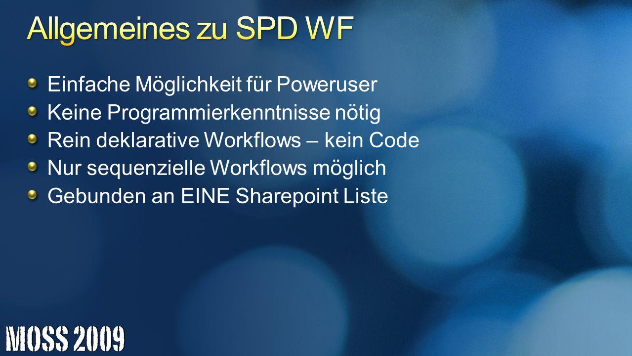Allgemeines zu SPD WF Einfache Möglichkeit für Poweruser