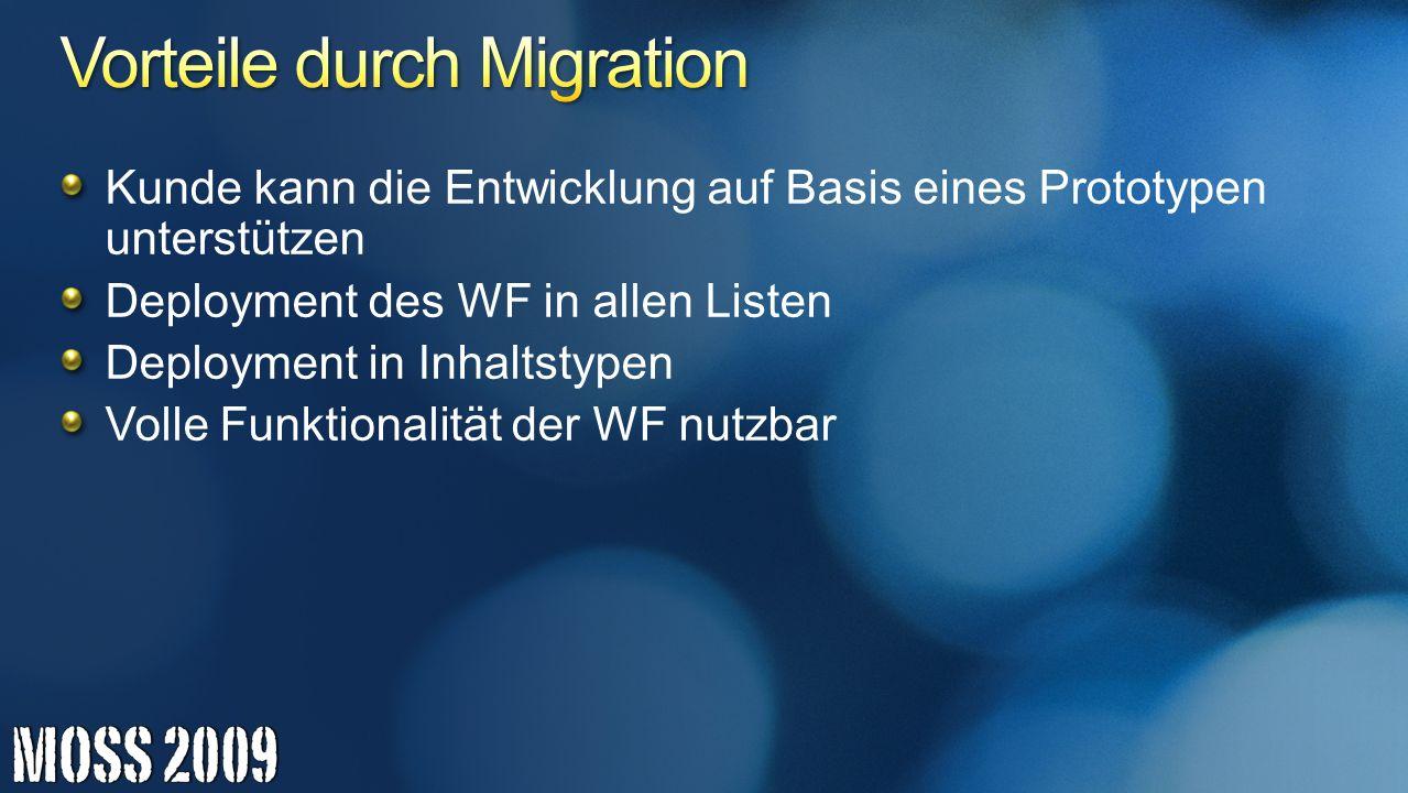 Vorteile durch Migration