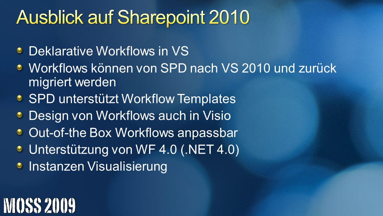 Ausblick auf Sharepoint 2010
