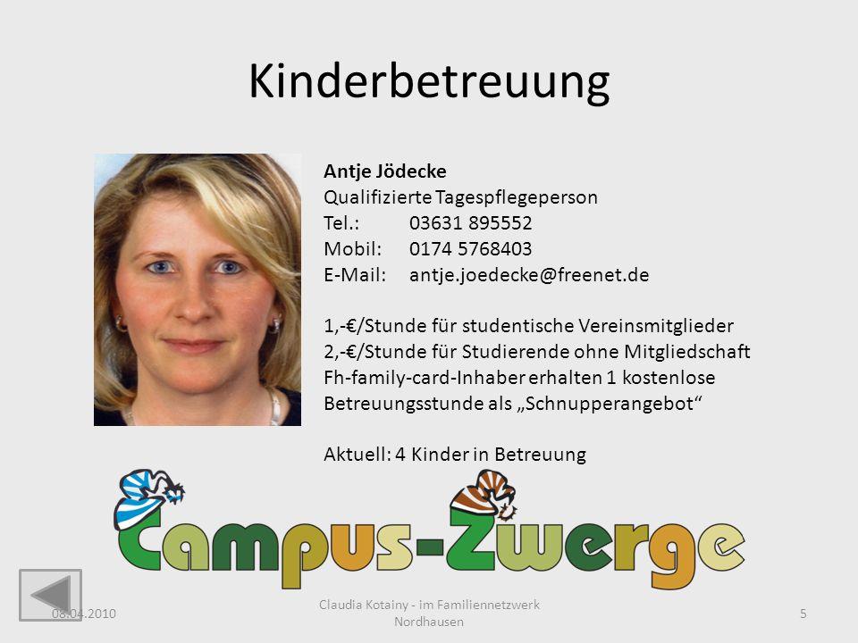 Claudia Kotainy - im Familiennetzwerk Nordhausen
