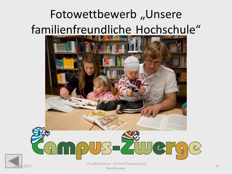 """Fotowettbewerb """"Unsere familienfreundliche Hochschule"""