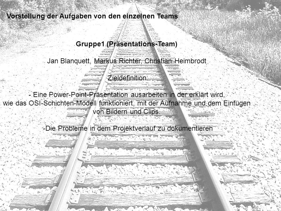 Gruppe1 (Präsentations-Team)