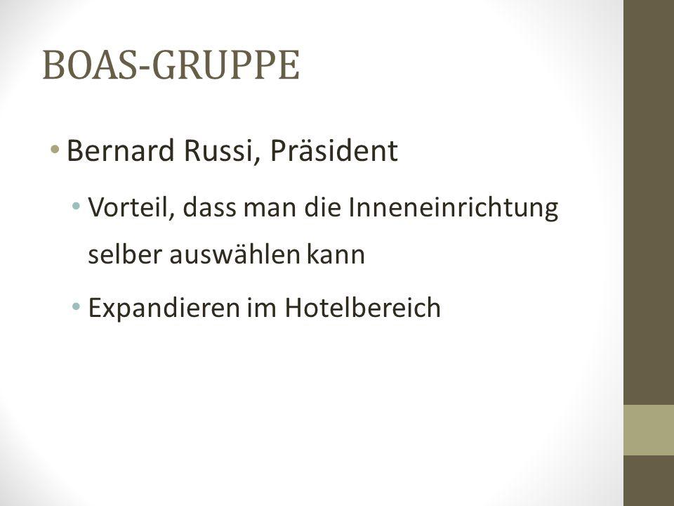 BOAS-GRUPPE Bernard Russi, Präsident