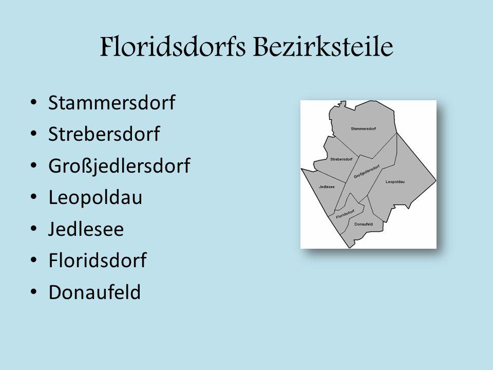 Floridsdorfs Bezirksteile