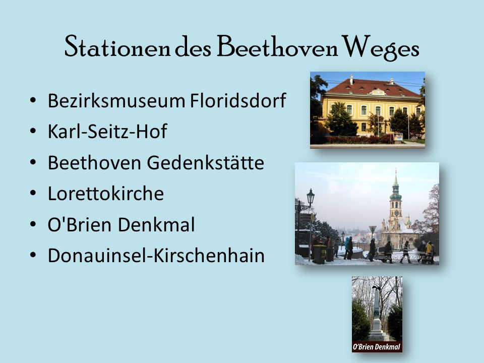 Stationen des Beethoven Weges