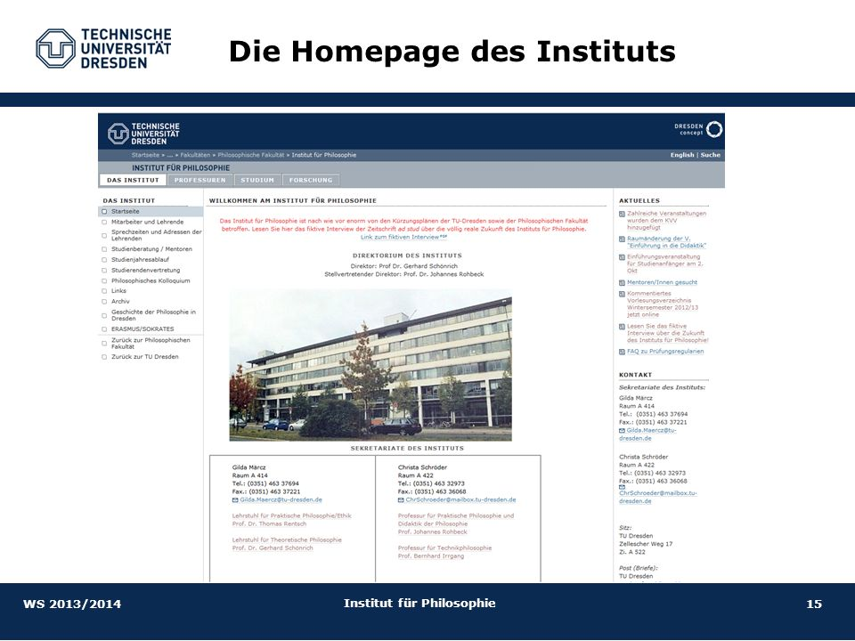 Institut für Philosophie